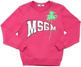 MSGM Rubber Logo Printed Cotton Sweatshirt