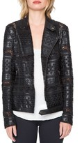 Willow & Clay Women's Eyelet Faux Leather Jacket