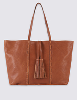 M&S Collection Leather Tassel Shopper Bag
