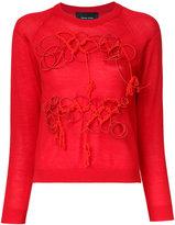 Simone Rocha embroidered sweatshirt