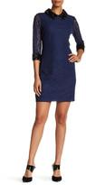 Sangria Rhinestone & Lace Sheath Dress