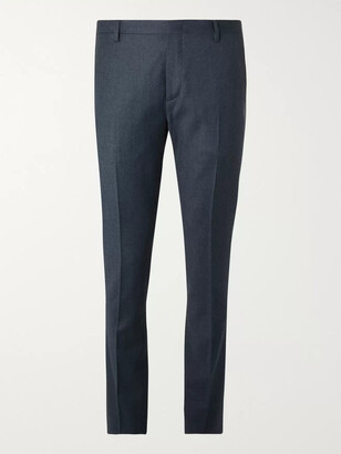 Paul Smith Blue Slim-Fit Wool And Cashmere-Blend Flannel Trousers