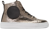McQ by Alexander McQueen Gunmetal Chris Mid-top Sneakers