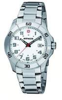 Wenger Men's Watch 70489 With A Clear Dial And Steel Bracelet