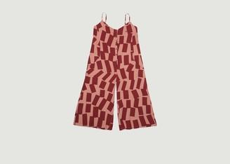 Bobo Choses Rectangles Pattern Sleeveless Jumpsuit - S