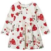 Vivetta White Heart and Flower Print Jersey Dress