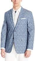 Tommy Hilfiger Men's Two Button Pattern Denim Blazer