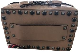 Valentino Guitar Rockstud Pink Leather Handbags