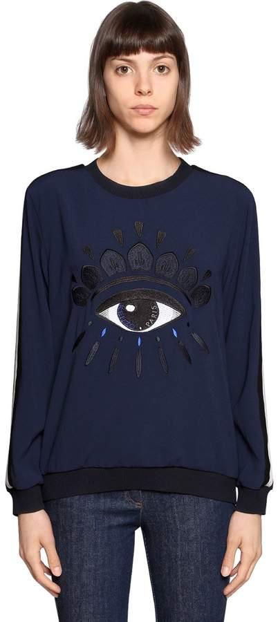 Kenzo Eye Embroidered Crepe Sweatshirt