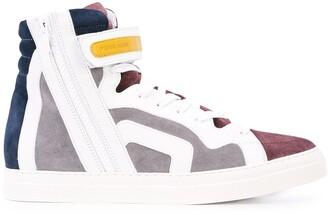 Pierre Hardy colour block hi-top sneakers