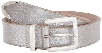 Leather Rock Mia Belt (Silver) Women's Belts