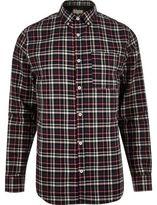 River Island MensGreen check shirt
