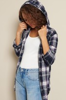 Garage Hooded Boyfriend Flannel Shirt