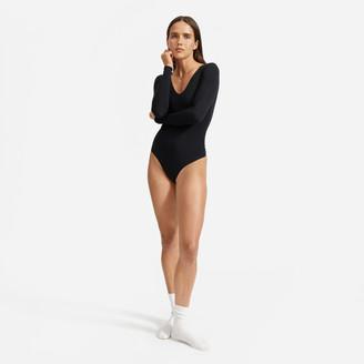 Everlane The Long-Sleeve V-Neck Bodysuit