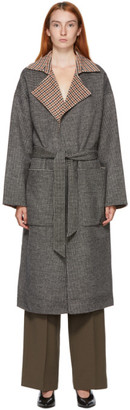 Nanushka Reversible Multicolor Wool Alamo Coat