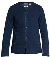 Blue Blue Japan Padded cotton-denim jacket