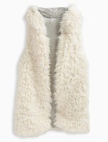 Splendid Girl Reversible Hooded Fur Vest