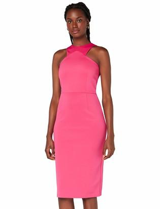 Amazon Brand - TRUTH & FABLE Women's Midi Bodycon Dress