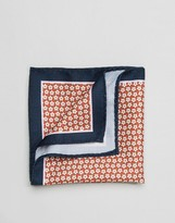 Selected Homme Pocket Square In Floral