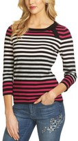 CeCe Women's Colorblock Stripe Sweater