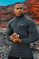 boohoo Mens Black MAN Active Raglan Skinny Fit Funnel Neck Top, Black