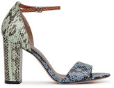 Reiss Piera Multi-Coloured Snakeskin Sandals