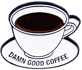 Make Heads Turn Enamel Pin Coffee