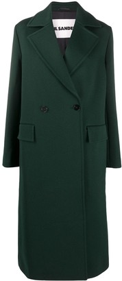 Jil Sander Double-Breasted Tailored Coat