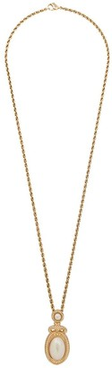 Christian Dior 1980s Pearl Pendant Necklace