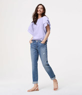 LOFT Boyfriend Jeans in Destructed Birch Wash