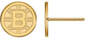 Logoart NHL Boston Bruins 10kt Yellow Gold Extra Small Post Earrings