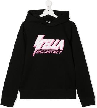Stella Mccartney Kids TEEN logo print hoodie