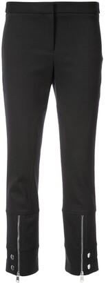 Alexander McQueen Cropped Zip Trousers