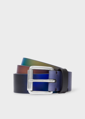 Paul Smith Men's 'Mineral Garden Gradient' Leather Belt