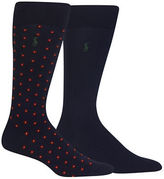 Polo Ralph Lauren Square Foulard Trouser Socks- Pack of 2