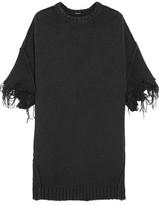 R 13 Frayed Stretch-Knit Sweater