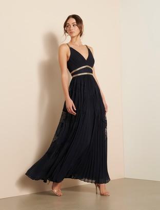 Ever New Kayla Spliced Lace Pleated Maxi Dress