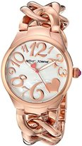 Betsey Johnson Women's Quartz Stainless Steel Casual Watch, Color:Rose Gold-Toned (Model: BJ00297-11)