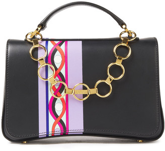 Emilio Pucci Chance Chain-detailed Printed Leather Shoulder Bag