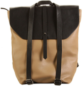 Hadaki Semolina & Black Primavera Leather Backpack