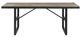 Steiner Pine Solid Wood Dining Table Union Rustic