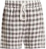 LEE MATHEWS Edith gingham drawstring linen shorts