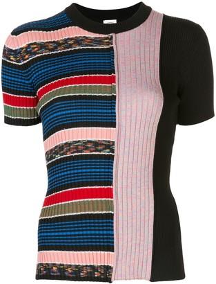 M Missoni striped print knit top