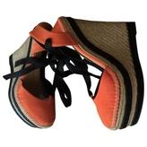 Gucci Orange Suede Heels