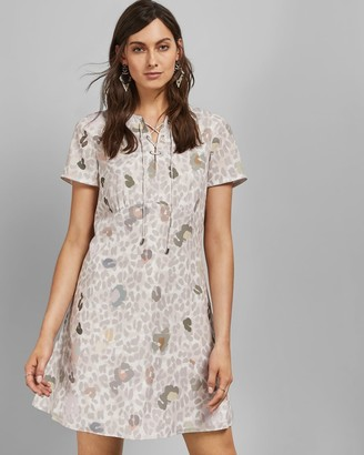 Ted Baker A-line Cheetah Chic Shift Dress