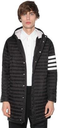Thom Browne Long Hooded Nylon Down Jacket
