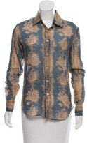 Anna Sui Fauna Printed Silk-Blend Top