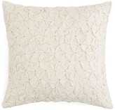 "Sky Eyelet Stripe Puckered Decorative Pillow, 16"" x 16"""