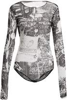 MM6 MAISON MARGIELA Scribble-print long-sleeved bodysuit