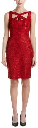 Jax Women's Sleeveless Cut Out All Over Lace Sheath
